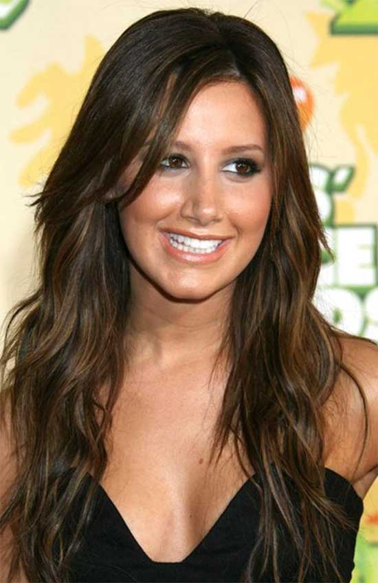 Ashley Tisdale Wavy Hairstyle for Long Fine hair