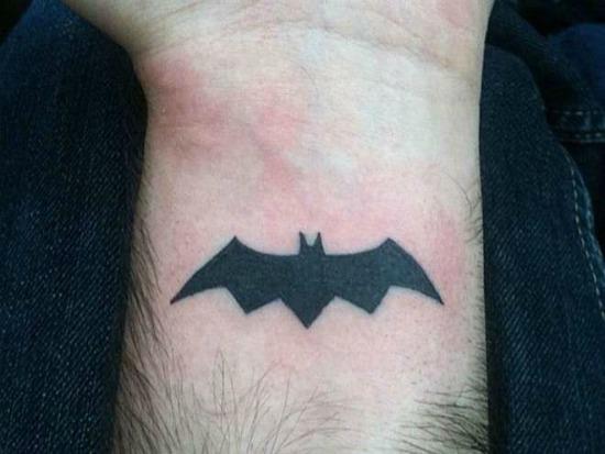 Batman Wrist Tattoo