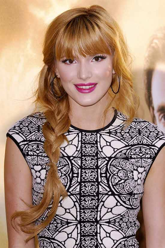 Bella Thorne Braided Hairstyle