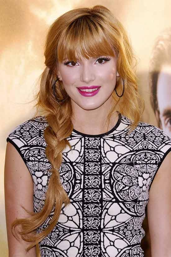 Bella Thorne Braided Hairstyle
