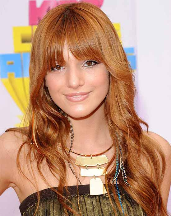 Bella Thorne RED Hair Styles