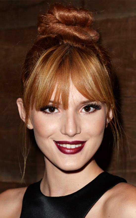Bella Thorne updo for long hair