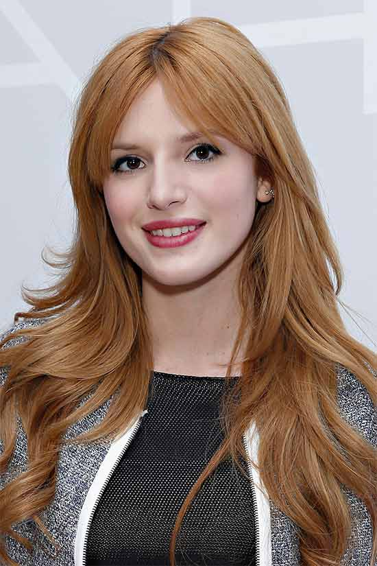 Bella thorne Long layerd Hair styles With bangs