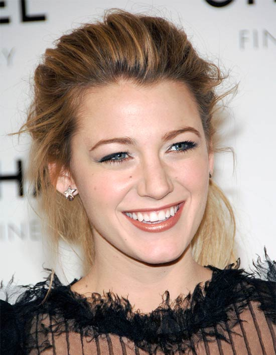 Blake Lively Updos For Medium Hair