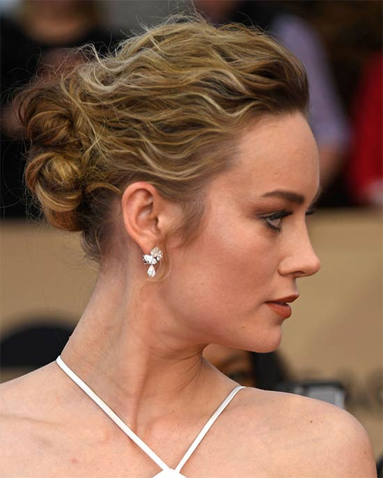 Brie Larson Wedding Hairstyle
