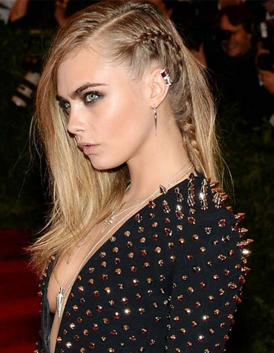 Cara Delevingne Braided Hairstyle