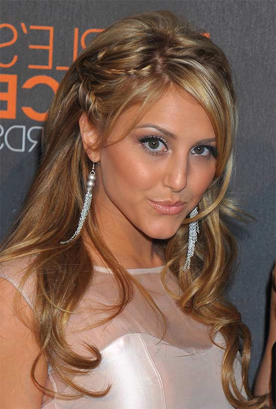 Cassie Scerbo Hairstyles For Long Hair For Prom Half Up