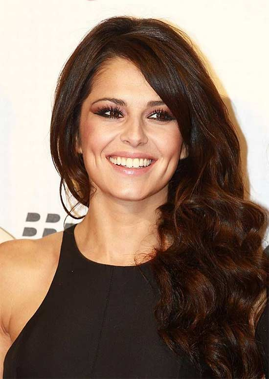 Cheryl Cole Long Hair styles With Bangs