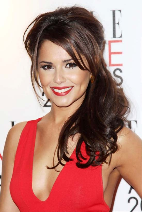 Cheryl Cole Long Half Up Half Down Hairstyles