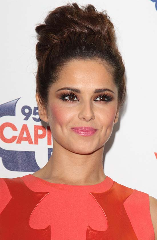 Cheryl Cole low bun hairstyle