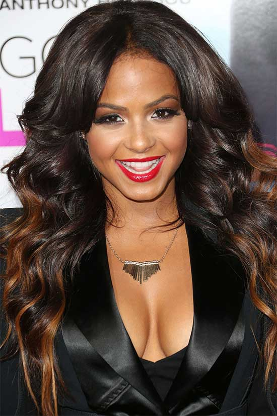 Christina Milian Long Hair style for Black Women