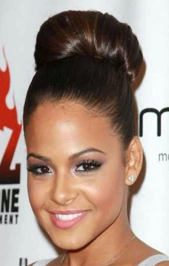 Christina Millian bun hair style