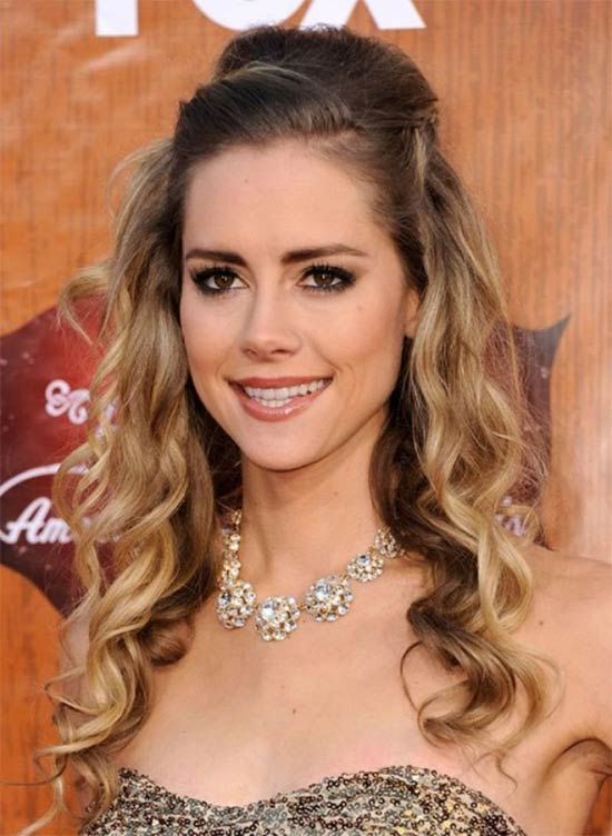 Dandy Celebrity Hairstyles Half Updo