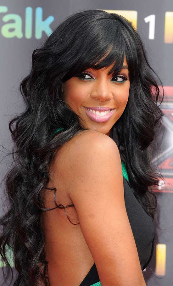 Danni Minogue Long Hair style for Black Women