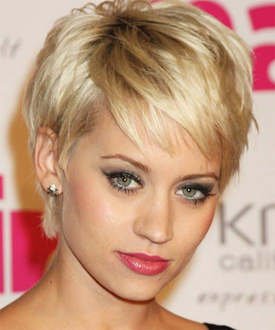 Dannii minogue Short shag hairstyles