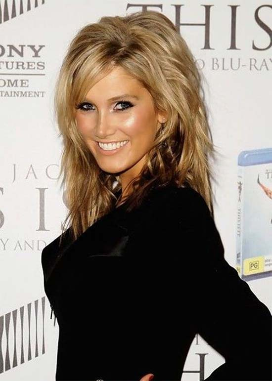 Delta Goodrem Layered Medium shag hair cuts