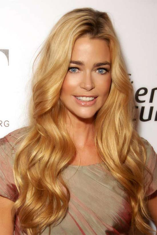 Denise Richards Long Blonde Hairstyle