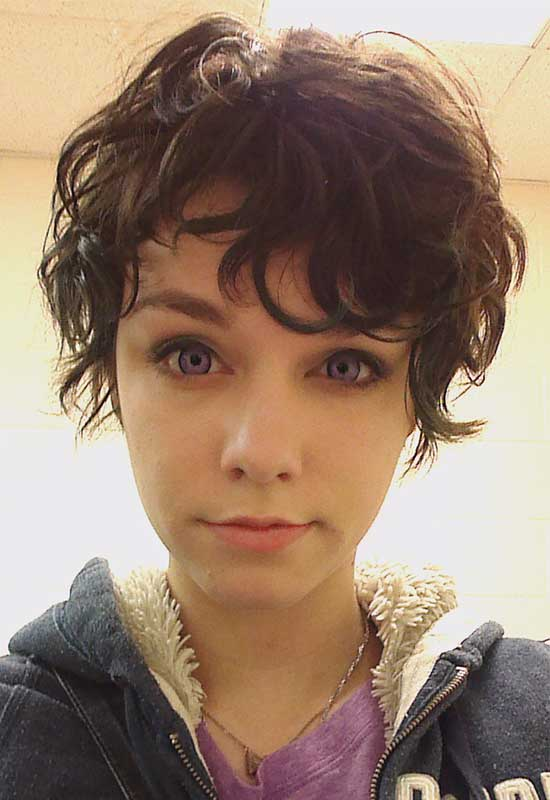 Denna Cutest Pixie Cut for Wavy Hair