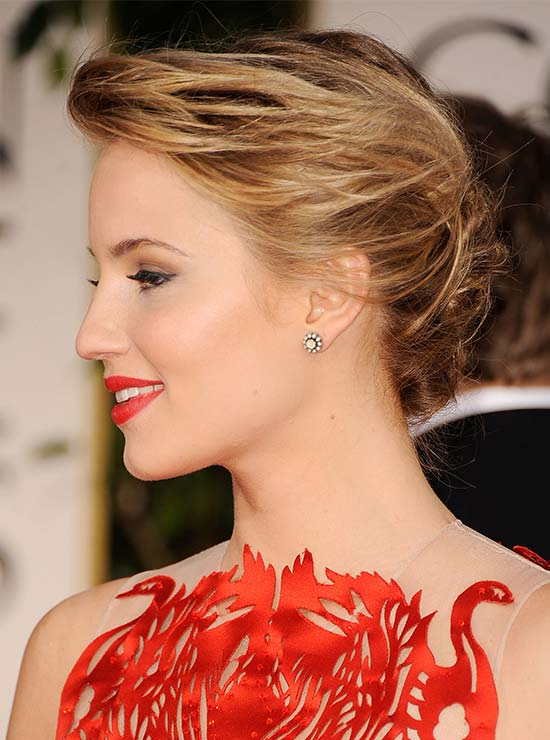 Dianna Agron Hairstyles French Twist