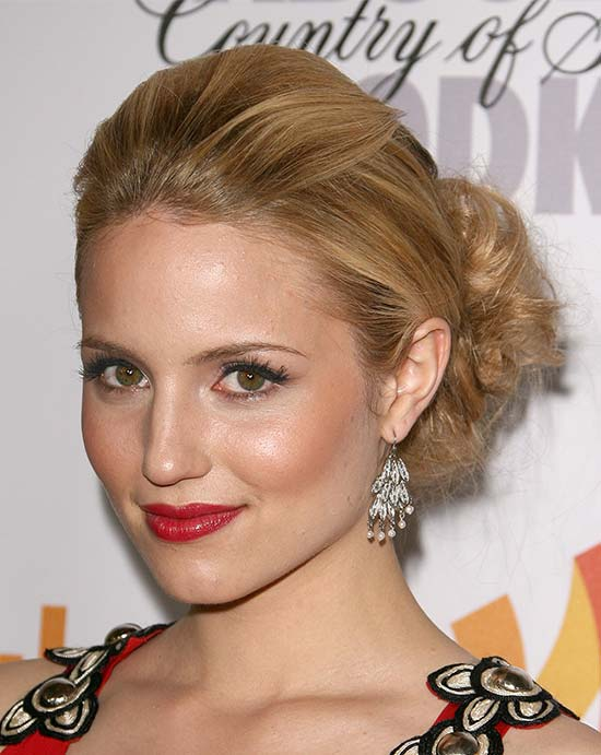 Dianna Agron Long Updo