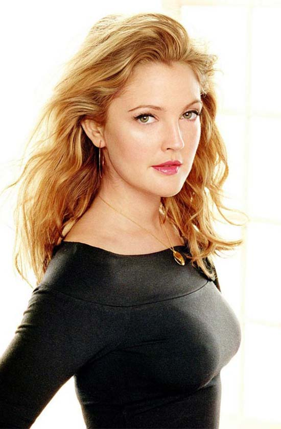 Drew Barrymore Curly Hair with Bangs