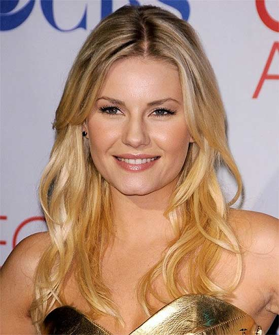 Elisha-Cuthbert Long hair style for round Face