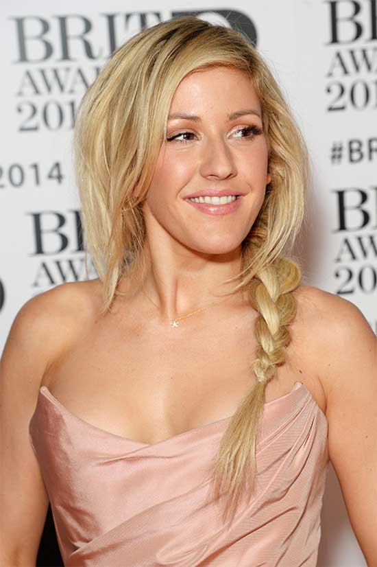 Ellie Goulding Braided Hairstyle