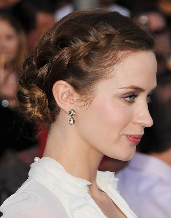 Emily Blunt Updos For Medium Hair