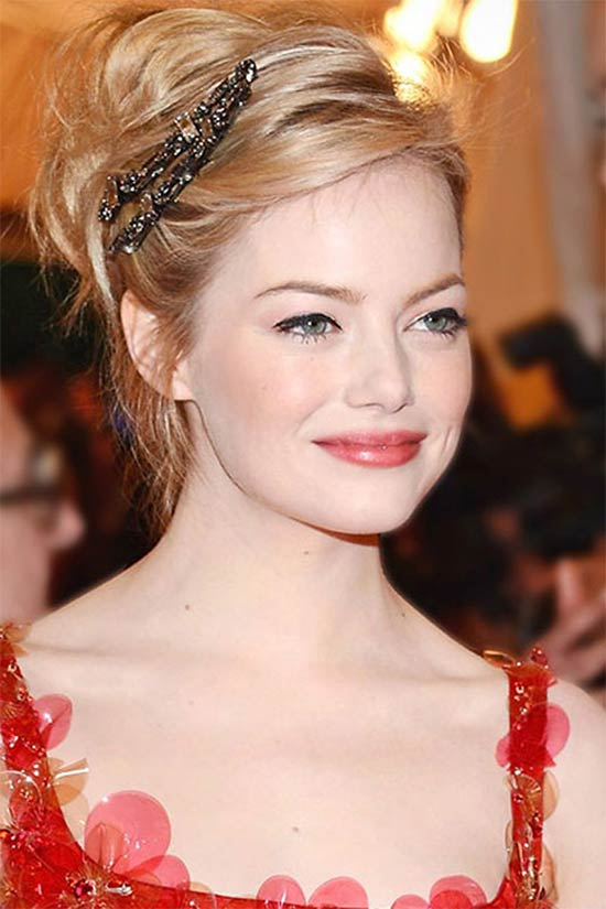 Emma Stone Wedding Hairstyle