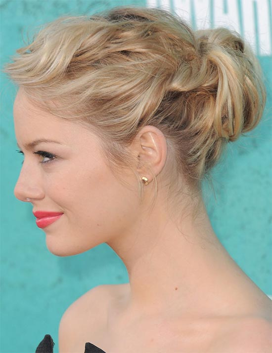 Emma Stone updo for long hair