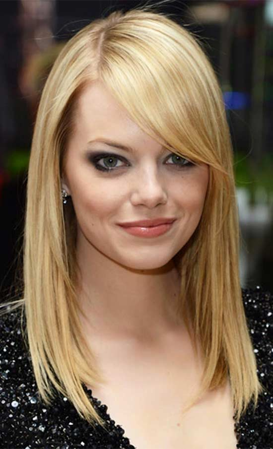 Emma Stone's Feather Light Side Fringe
