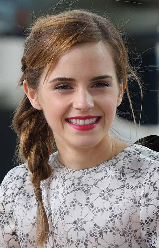 Emma Watson Braided Hairstyle