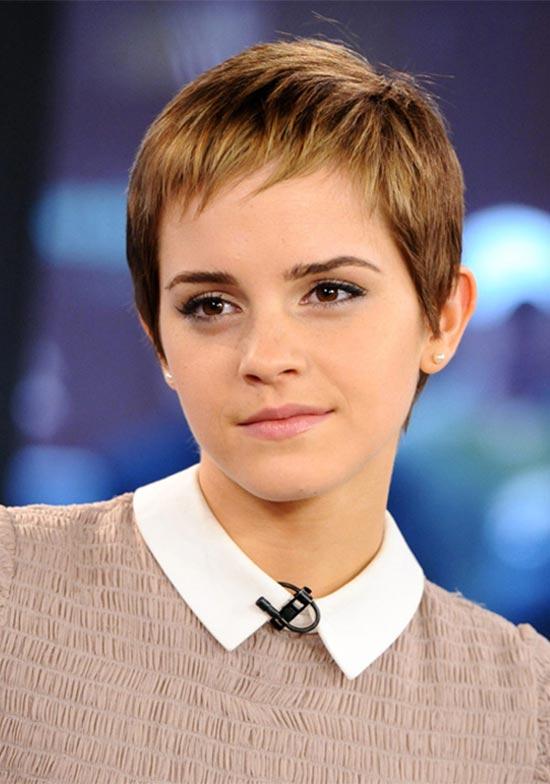 Emma Watson Short Blonde Hairstyles