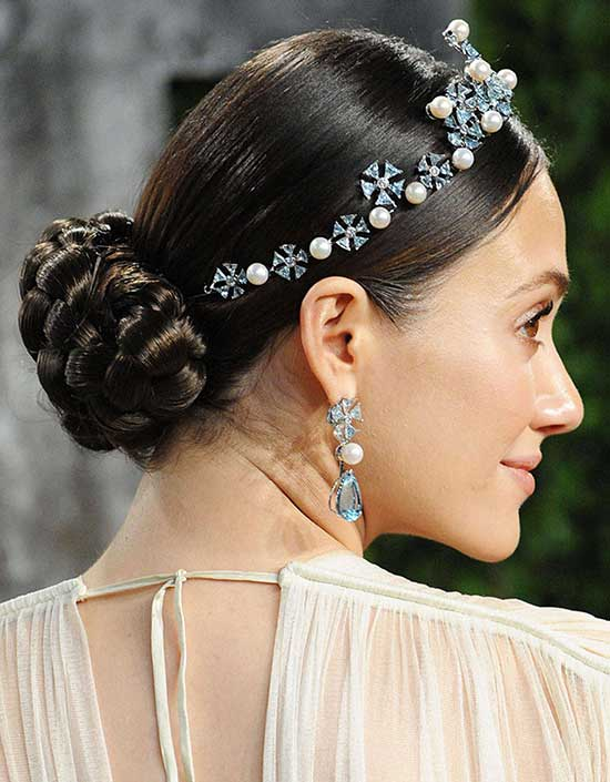 Emmy Rossum Wedding Hairstyle