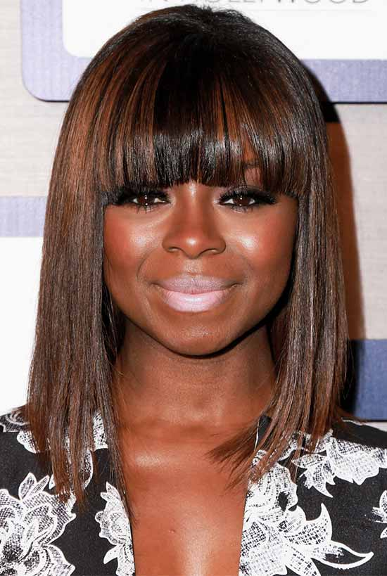 Erica-Tazel Black Hairstyles With Bangs