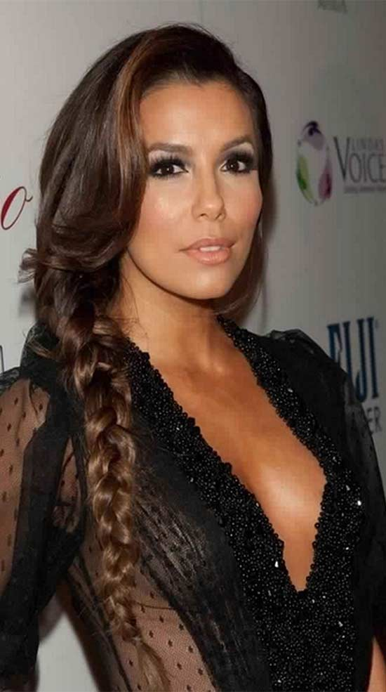 Eva Longoria Braided Hairstyle