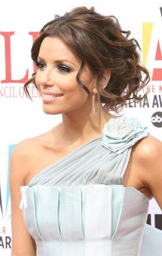 Eva Longoria messy Updo for long hair