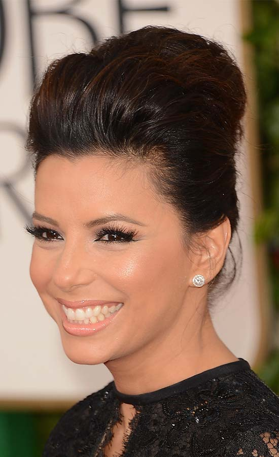 Eva Longoria updo for long hair