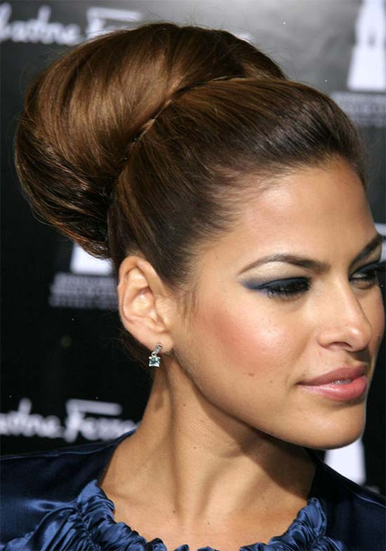 Eva Mendes Bun Hairstyles for Long Hair