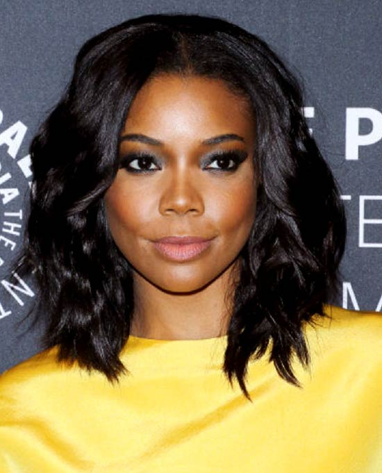 Gabrielle Union Black Women dark wavy Bob