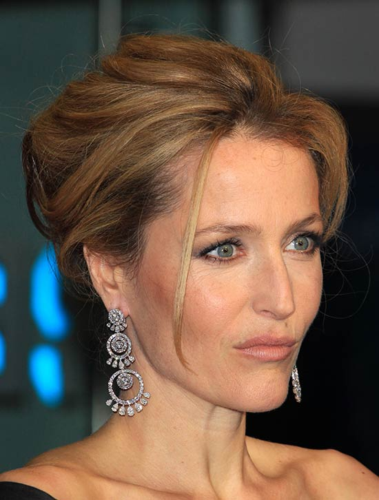 Gillian Anderson Updo For Thin Hair