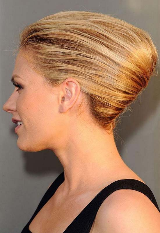 Grace Kelly Blonde French Twist Hairstyle