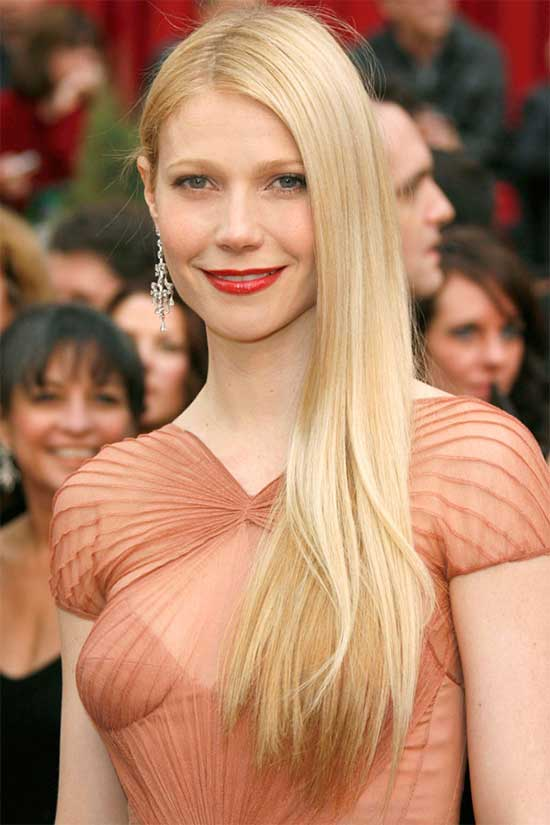 Gwyneth Paltrow Long Straight hair Styles
