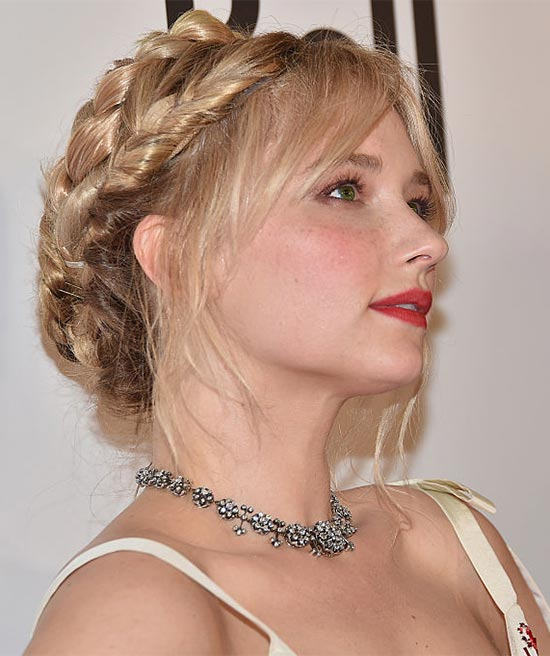 Haley Bennett Wedding Hairstyle
