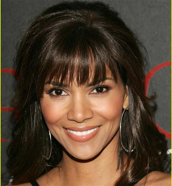 Halle Berry Black Hairstyles With Bangs