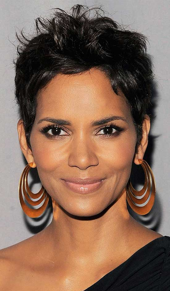 Halle Berry Black Women Pixie Cuts