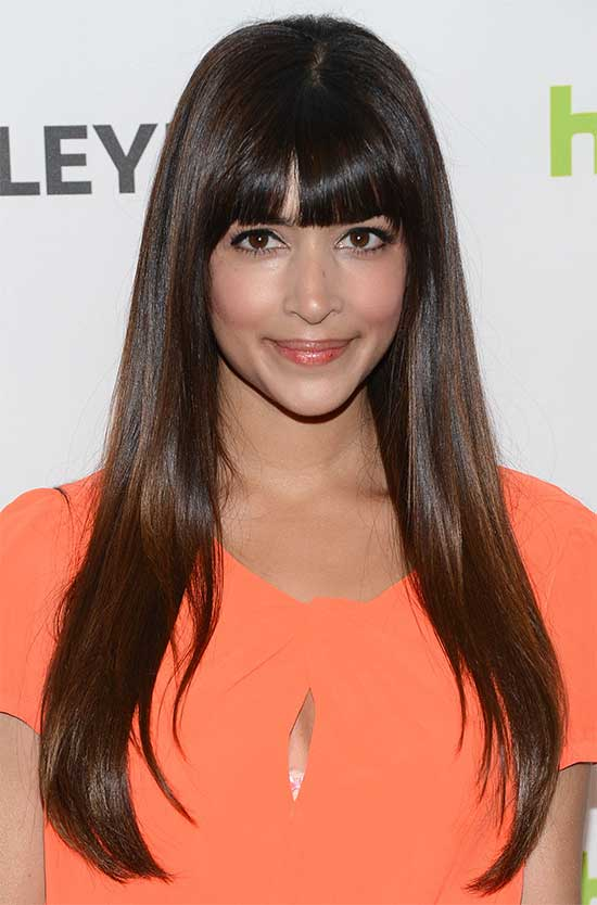 Hannah Simone Long Straight hair Styles