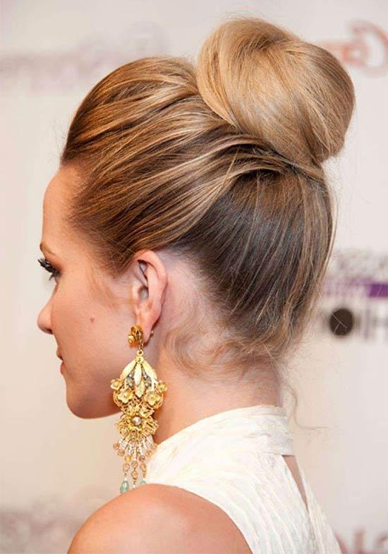 Hayden panettiere bun hair style