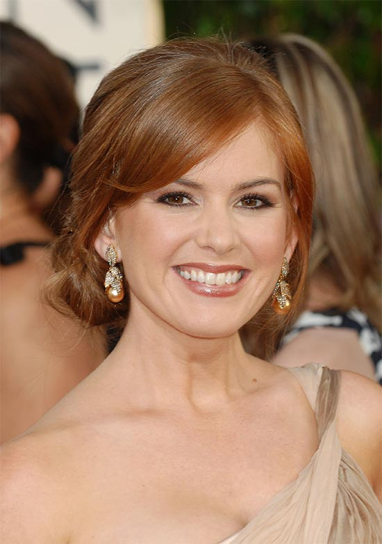 Isla Fisher messy Updo for long hair