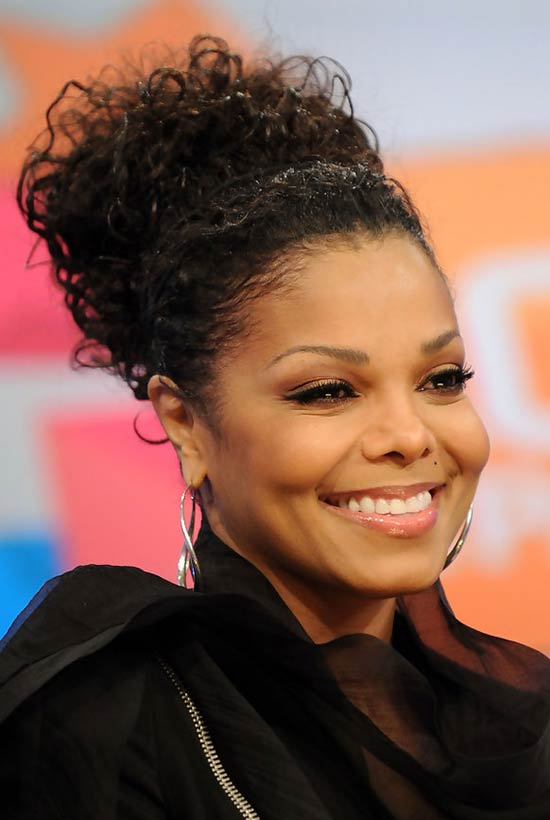 Janet Jackson UPDO hair styles for Black Women